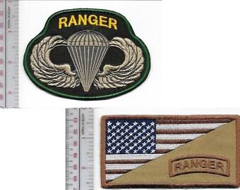 Ranger US Army 75th Infantry Regiment Airborne & Ranger Tab Parachutist Wings
