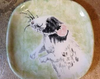 Custom ceramic portrait plate