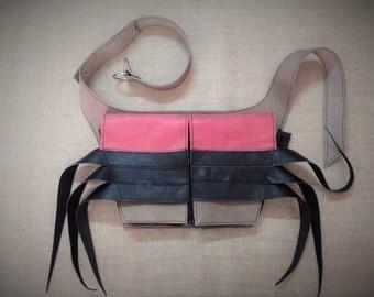 ranga SAVARI. Waist / cross body leather bag