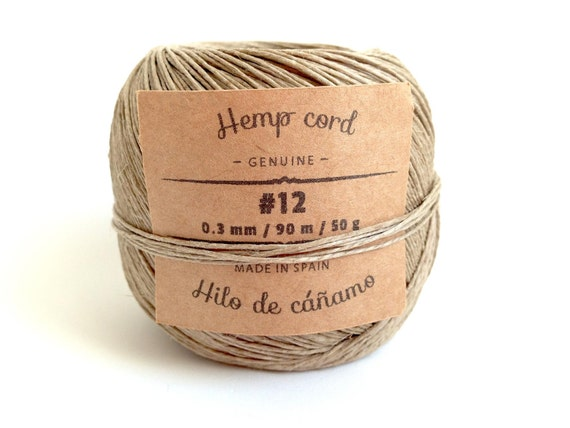 Hemp cord natural 12 spool of natural polished hemp cord made in spain genuine hemp twine - Hemp rope craft ideas an authentic rustic feel ...