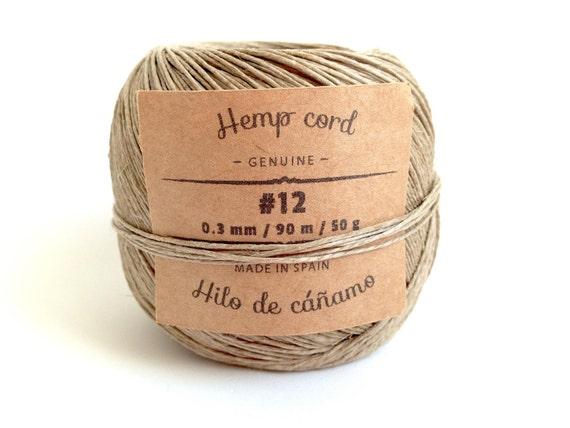 Hemp Cord Natural 12 Spool Of Natural Polished Hemp Cord Made In Spain Genuine Hemp Twine