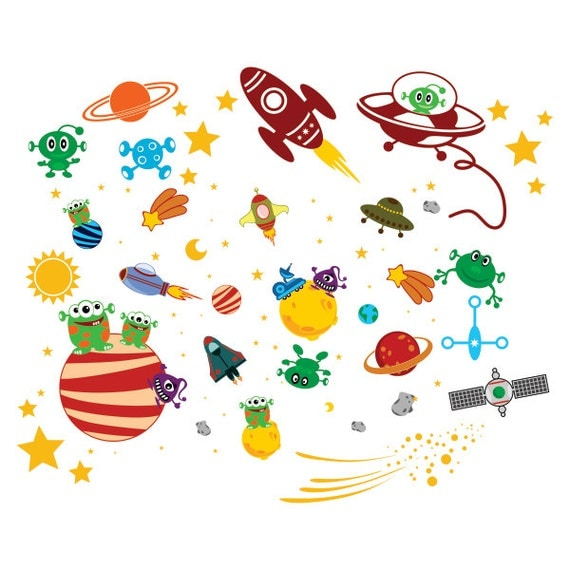 Outer space aliens designs cuttable pack svg dxf eps use for Outer space designs norwich