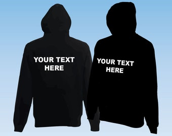 Black Hoodie sweatshirt Workwear or Leisure wear ideal for Corporate, events or Stag do,Hen do. PERSONALISED