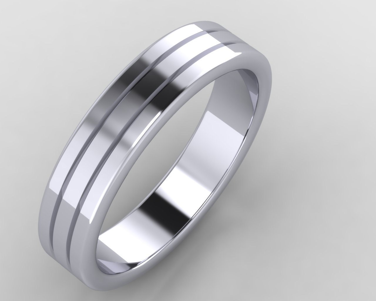 platinum 5mm mens wedding band 950 purity 5mm band 5mm