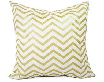 Metallic Pillow Cover, Glitz, Gold dot, Chevron