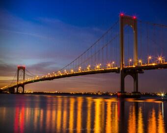 Whitestone Bridge, fine art print, nyc, long exposure, night shot, New York, Whitestone Bridge photo, wall art