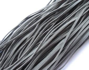 5 m art-suede band dark grey