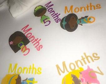 1-12 Months Sticker Set