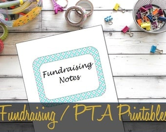 Fundraising / PTA Planning Printable Inserts, Event Planning, Volunteer Log, Committee - INSTANT DOWNLOAD