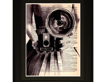 """Prestige"""".Dictionary Art Print. Vintage Upcycled Antique Book Page. Fits 8""""x10"""" frame"""