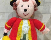 Hand Knitted Town Crier Hedgehog Soft Toy (All Proceeds to the Cystic Fibrosis Trust)