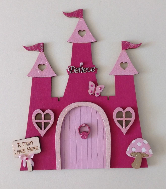 Princess fairytale castle fairy door by sweetpeafairydoors for Princess fairy door