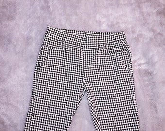 checkered skinny pants sz XS-S (stretchy)