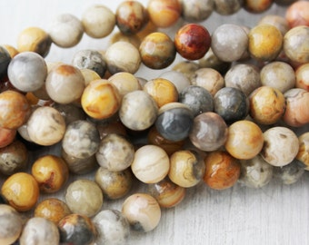 6mm Crazy Lace Agate, Crazy Lace, Lace Agate, 6mm Agate, Agate Beads, 6mm Agate Beads, 6mm Gemstone Beads, 6mm Agate Rounds, Round Beads,