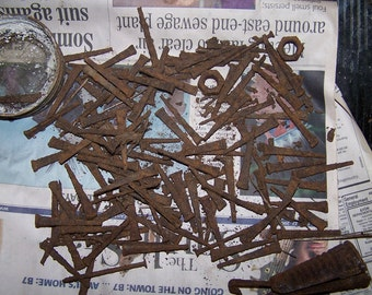 rusted square nails