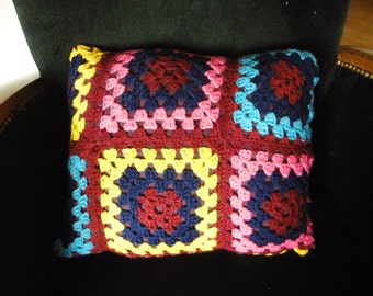 cushion up cycling from plaid vintage style Granny Square 70