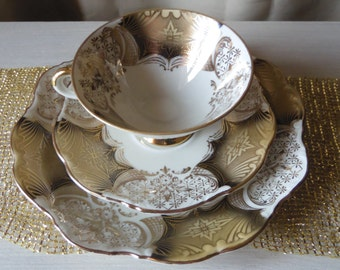 Triplette Cup Saucer and plate made in Germany Winterling