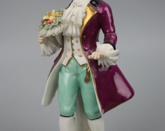 Frankenthal Friedrich Wessel figurine Gentleman with Flowers