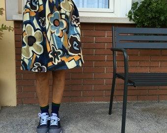 Printed Pique Skirt