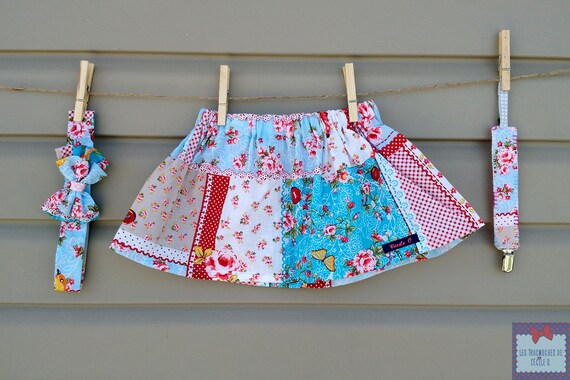 READY-to-GO/READYTOGO - skirt and headband + home - sucks - all - girl (baby and toddler) print floral patchwork