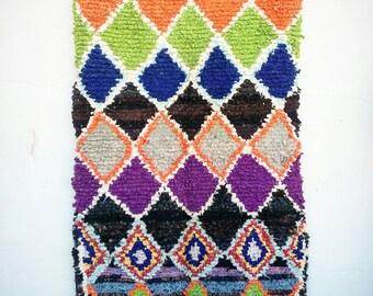 Small Rag rug boucherouite