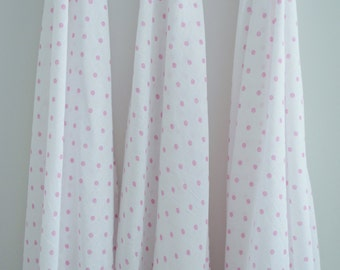 My Little Giggles 100% Cotton Muslin Wrap / Baby swaddle blanket - Pink Spots