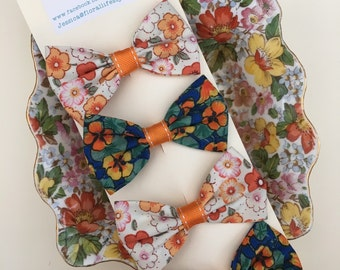 Hair bow set - Spring Collection - Burnt Oranges