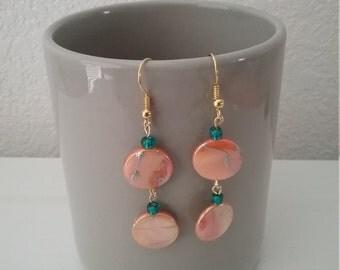 Mother Of Pearl Bead Earrings