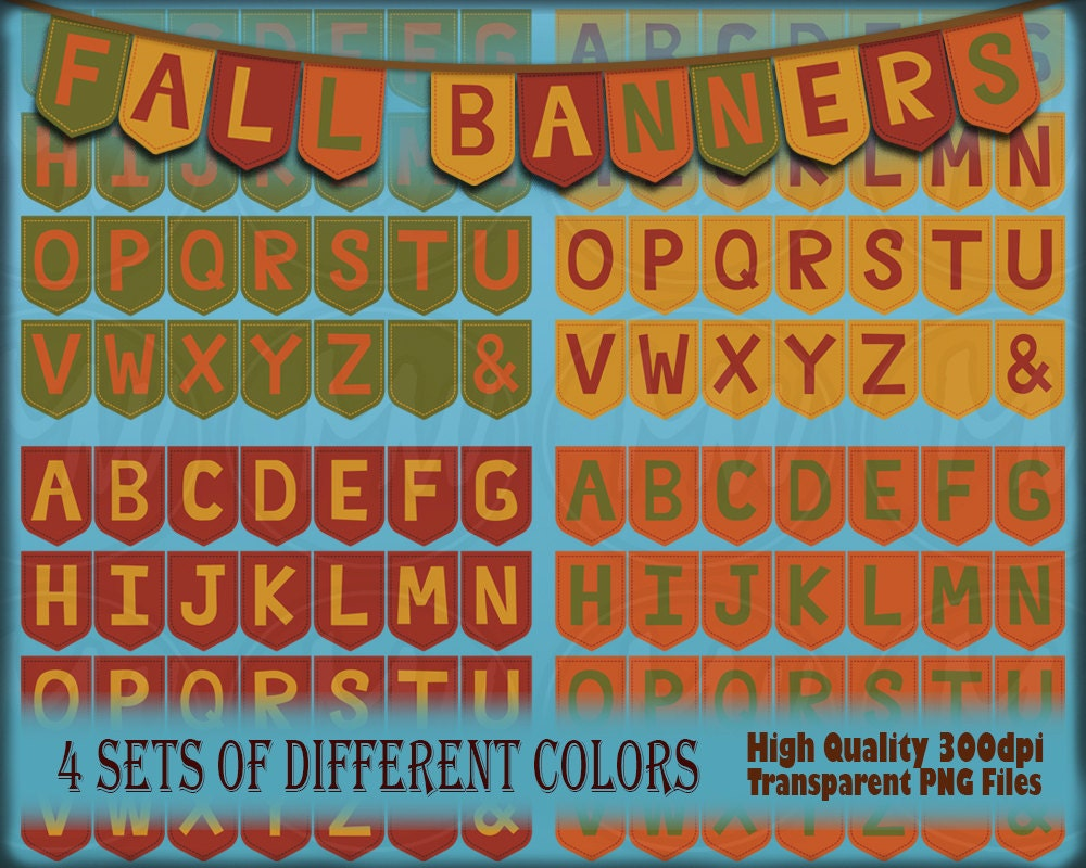 fall colors bunting banners bunting printable alphabet red. Black Bedroom Furniture Sets. Home Design Ideas