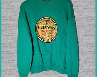 Vintage Guinness Beer Crewneck Sweatshirt Large