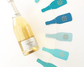 Champagne Ombre Gold Polka Dots Banner