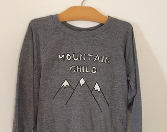 Mountain Child screen printed shirt