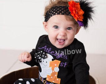 Halloween Headband ,Halloween Baby Headband , Newborn Headband ,Baby Girl Headband , Flowers Baby Headband