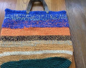 Handmade crochet tote