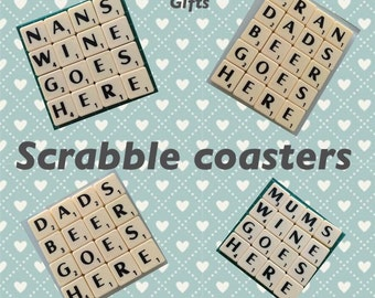 Scrabble costers