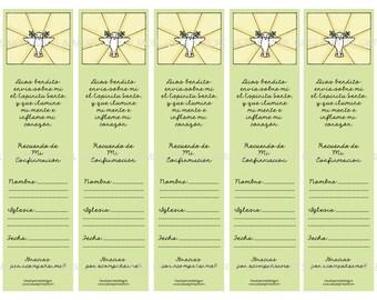 Separadores de libros para regalar en tu Confirmación SPANISH ***INSTANT DOWNLOAD***