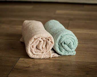Set of 2 Newborn Cheesecloth Wrap Set  :  Photography Prop - Newborn Photo Prop, Newborn Wrap
