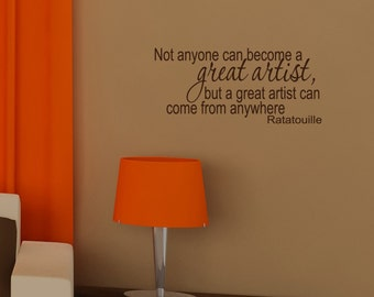 Ratatouille, Great Artist, Vinyl Wall Lettering, Art, Words, Decal, Willow Creek Design Co