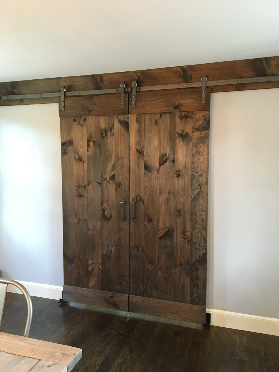 Custom rustic sliding barn door