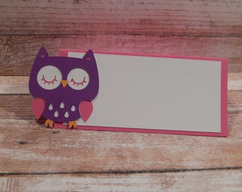 Owl Place Cards, Owl Food Tents, Owl Themed Party Decor