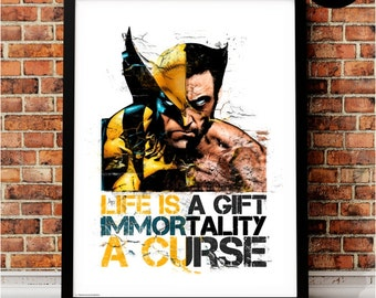 Wolverine Art Print, Marvel Superhero Inspired, X Men, X-Men Quote, Avengers Art, Logan, Comic