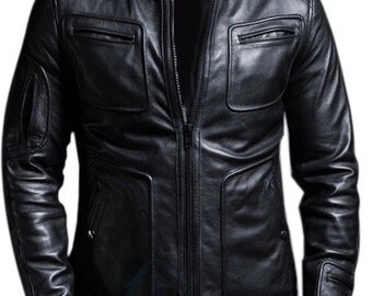 BNWT STALLION Men's LAMBSKIN Leather Jacket ST096