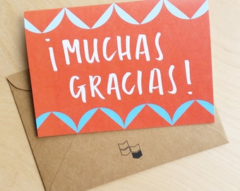 Muchas Gracias - Thank You Card in Spanish