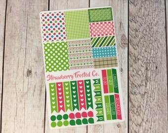 Froggy/Frog Themed Planner Stickers- Made to fit Vertical Layout