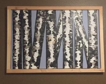 Custom Birch canvas painting