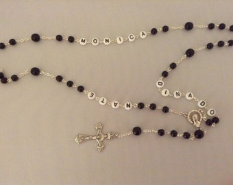 Rosary Beads with Names