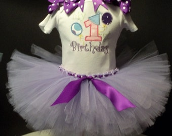 My First Birthday TuTu Set