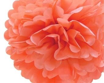 Tissue Paper Pom Pom   Coral   Tissue Paper Ball