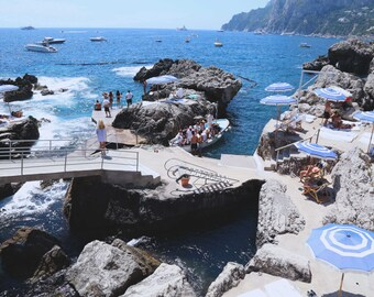 La Fontelina Beach Club, Amalfi Coast, Capri Boating, Italian Photography, Beach Art, European Coast