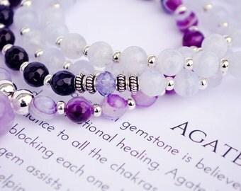 Amethyst mala - Mala Beads - Yoga Mala - 108 Mala Necklace - Prayer Mala - Prayer Beads - Meditation Mala - Yoga Beads Necklace - Buddhist